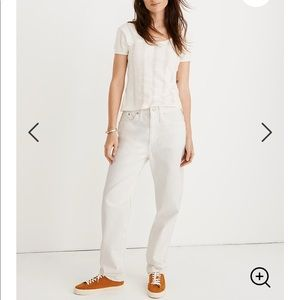 Madewell Dad Jeans In Tile White